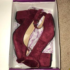 Suede 2 inch heels